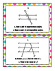 Parallel Lines Cut by a Transversal - Task Cards