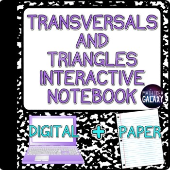 Parallel Lines Cut by a Transversal and Angles Interactive Notebook