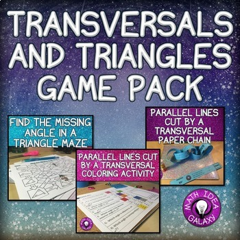 Parallel Lines Cut by a Transversal Activities and Angles in a Triangle Games