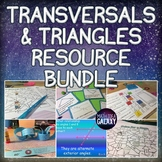Parallel Lines Cut by a Transversal and Angles in a Triangle Resource Bundle