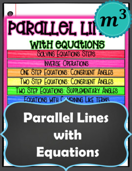 Parallel Lines Cut by a Traversal with Equations GOOGLE SLIDES