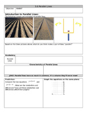 Parallel Lines Guided Notes