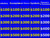 Parallel Lines Jeopardy Interactive Game