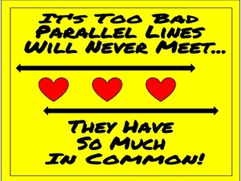 Parallel Lines Math Poster