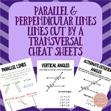 Parallel Lines, Perpendicular Lines, Lines Cut by a Transv