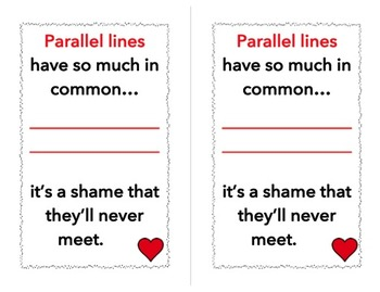 FREE Parallel Lines Poster Cards (...for Valentine's Day or just for fun!)