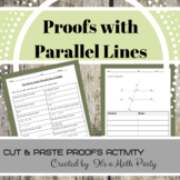 Parallel Lines Proofs Activity - Cut & Paste Proofs