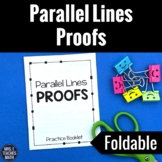Parallel Lines Proofs Foldable Practice Booklet