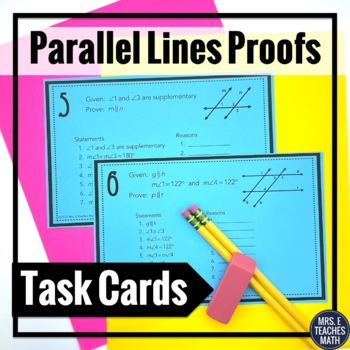 Parallel Lines Proofs Task Cards