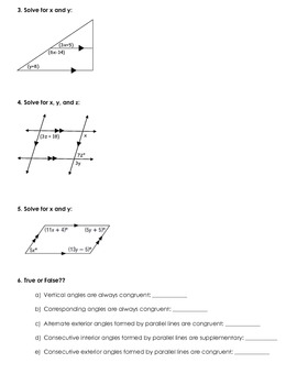 Parallel Lines Quiz