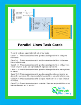 Parallel Lines Task Cards