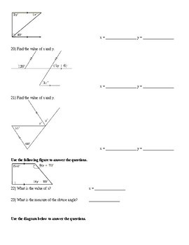 Parallel Lines - Test with Proofs (+key)