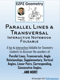 Parallel Lines & Transversal Angle Relations Interactive N