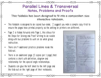 Parallel Lines & Transversal: Notes, Problems & Proofs