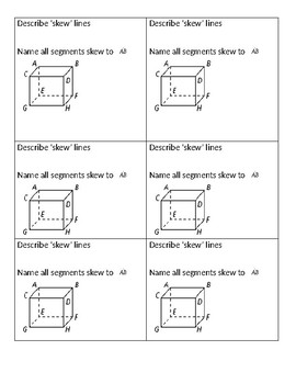 Parallel Lines & Transversal Task Cards