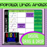 Parallel Lines and Transversals Angle Pairs Digital Drag a