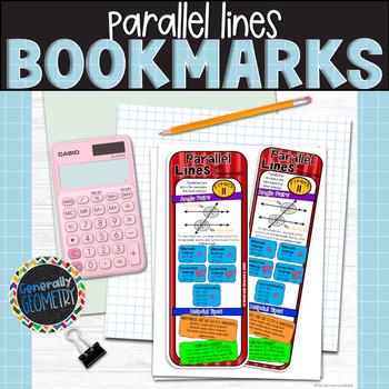Parallel Lines & Transversals Bookmark; Resource Tool