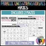 Parallel Lines & Transversals Mazes (GOOGLE Slides) Distan