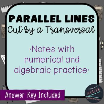 Parallel Lines & Transversals Note Sheet