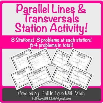 Parallel Lines & Transversals Station Activity!