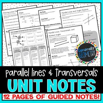 Parallel Lines & Transversals Unit Notes
