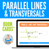 Parallel Lines, Transversals, and Angles Boom Cards (digital task cards)