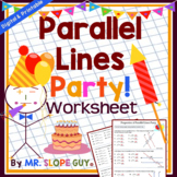 Parallel Lines Transversals and Angles Worksheet (Distance Learning)