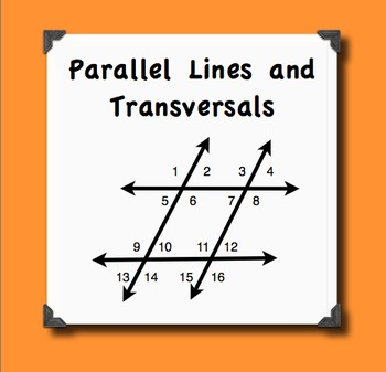Parallel Lines Transversals And Their Angles Notes And Quiz Bundle