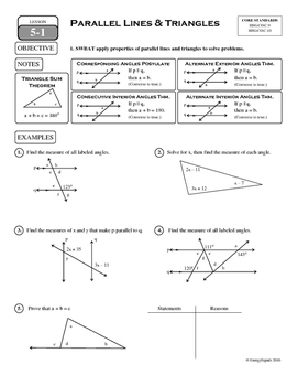5-1 Parallel Lines & Triangles