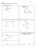 Parallel Lines and Angle Relationships Test
