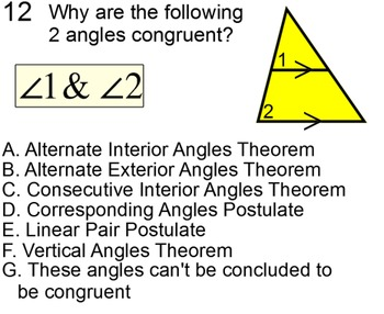 Parallel Lines and Angles 2 Student Reference Handouts & 10 Assignments for PDF