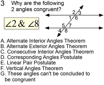 Parallel Lines & Angles 2 Student Reference Handouts & 10 Assignments for SMART