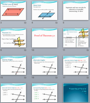 Parallel Lines and Planes - PowerPoint, Notes, Proofs, and Practice BUNDLE