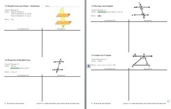 Parallel Lines and Planes Unit PPT/Notes/Practice(goes w/Jurgensen textbook ch3)