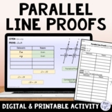 Parallel Lines and Proving Lines Parallel Proof Activity