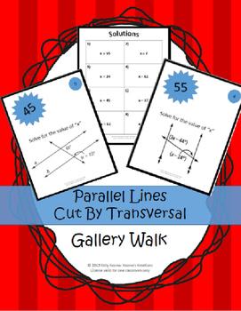 Parallel Lines cut by Transversal: BUNDLE!!!