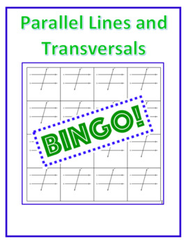 Parallel Lines and Transversal Bean Bag BINGO