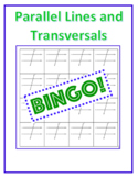 Parallel Lines and Transversal Bean Bag BINGO