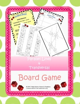 Parallel Lines and Transversal: Board Game