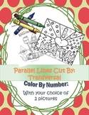 Parallel Lines and Transversal: Color By Number