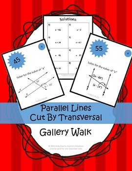 Parallel Lines and Transversal: Gallery Walk