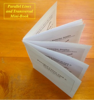 Parallel Lines and Transversals Slides and Mini-Book Foldable