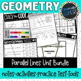 Parallel Lines & Transversals Unit Bundle; Geometry, Parallel Lines, Slope