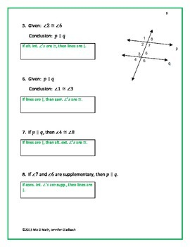 Parallel Lines and Transversals Card Sort