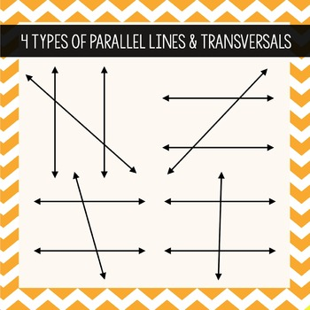 Parallel Lines and Transversals Clip Art - 32 PNGs