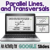 Parallel Lines Cut by a Transversal - Digital Activity (GO