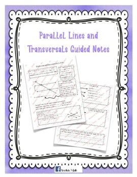 Parallel Lines and Transversals Guided Notes