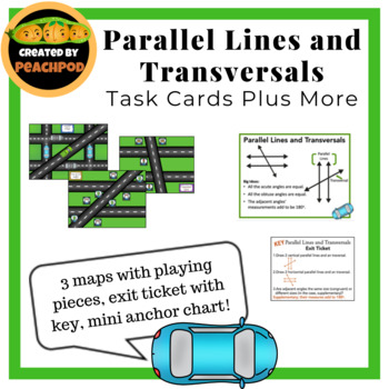 Parallel Lines and Transversals Hands-On Station with Exit Ticket