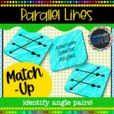 Parallel Lines and Transversals Match-Up; Geometry