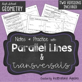 Parallel Lines and Transversals: Notes & Practice